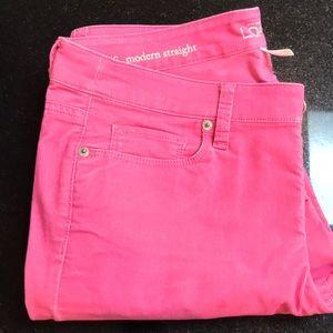 LOFT - Modern Straight Corduroy Pants
